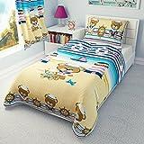 Bettwäschegarnitur für Kinderbett von Ikea, vertrieben durch Babies Island, Deckenbezug und Kissenbezug, 110 x 125, Motiv: rosa, Seemann
