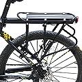 westgirl verstellbar hinten Fahrrad Gepäckträger mit Reflektor Carrier Rack frame-mounted für schwerere Top & Side Lasten Bike Cargo Racks