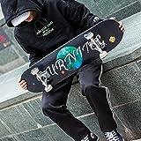 Lililili Komplettes Skateboard, Tricks Skate Board Für Anfänger und Profi-7-Schicht Kanadische Ahorn Holz Double Kick Concave Skateboards,F