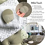Facial Cleansing Brush MIKA TOUCH - Natural Facial Cleanser - Face Massager and Exfoliating Deep Pore Cleansing Scrub - Anti Aging, Blackhead and Acne Treatment - Waterproof - USB Rechargeable Battery