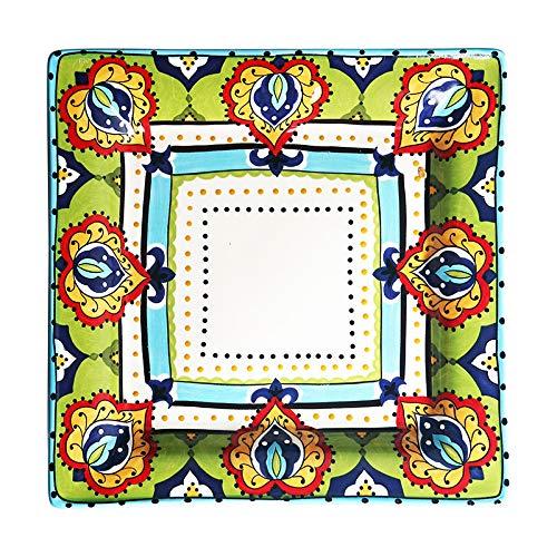 CXQ-Dining plate Assiette à dîner carrée en Porcelaine, 27.5 * 3.8cm