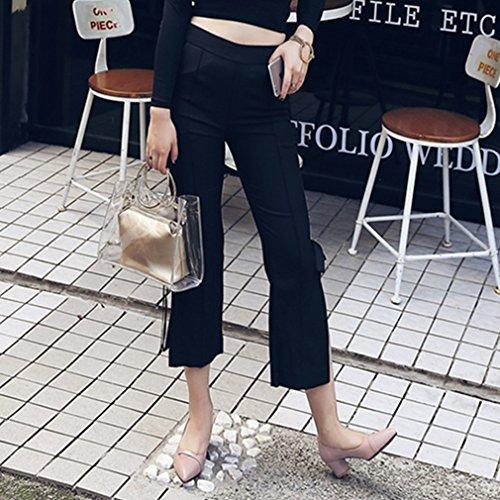 La Vogue Escarpin Talon Femme Chaussure Talon Haut Aiguille PU Cuir Cheville Soirée Travail Rose