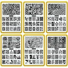 CICI y SISI Nail Art Sello Collection Set Jumbo 3 Set de 6 JUMBO Nailart polaco Stamping Manicura imagen Placas Accesorios Kit Todos los nuevos diseños con GRATIS Stamper y RASPADOR herramientas Conjunto