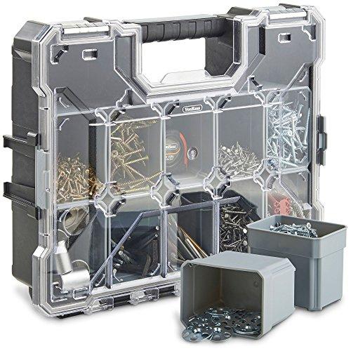 VonHaus Abschließbare Aufbewahrungskiste mit extra-starkem Polycarbonat-Deckel - Ordnung für Bits, Nägel & Schrauben -