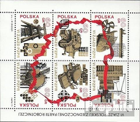 Pologne Bloc 50 (complète.Edition.) neuf avec gomme originale 1972 polonaise