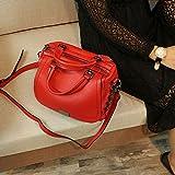 Weiblicher neuer lederner tragbarer Lederhandtasche der neuen Flut-Sommerart und weise weiche erste Schicht lederne Umhängetasche ( Color : Rot )