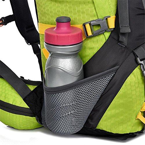 55L Zaino Uomo Donna professionale Zaini borse zaino di alta qualità borsa da viaggio zaino , orange Orange