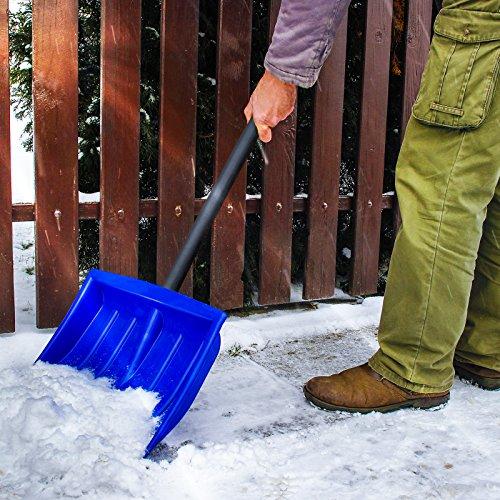 Jago Schneeschaufel Schneeräumer einzeln oder im zweier Set mit Farbwahl inkl. Stiel aus Stahlrohr - 3