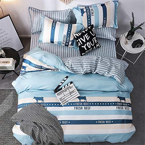 YUNSW Polyester Baumwolle Tröster Fall Erwachsene Bettwäsche Moderne Grau Kleine Blume Bettbezug Twin Voll Queen Size B 210x210 cm