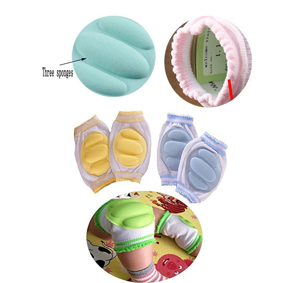 Hillento transpirables elásticos unisex infantiles rodilleras del bebé del niño de rodilla coderas arrastrándose… 5