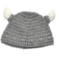 AMOYER 1065/5000 1PC Baby Bull Horn Beanie Morbido Filato di Lana Berretto per Neonato Berretto Fatto a Mano Cappello…