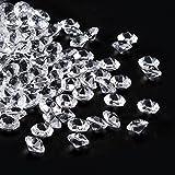 3000 Stück Deko Diamanten,Furado 6mm streudeko diamanten Kristalle Diamanten für Hochzeit Party,Tischdeko Diamante,Vase Fillers und Fisch Tank Dekoration (weiß)