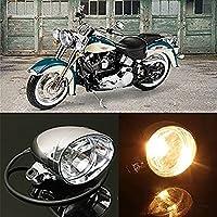 katur 12V Motocicleta Moto Redonda conducción niebla foco luz lámpara para faros delanteros Amarillo Luz