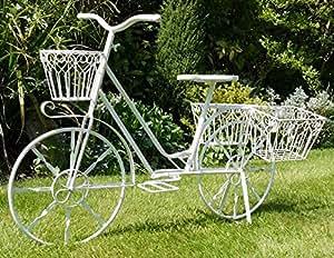 deko fahrrad fahrrad blumentopf f r garten oder terrasse garten. Black Bedroom Furniture Sets. Home Design Ideas