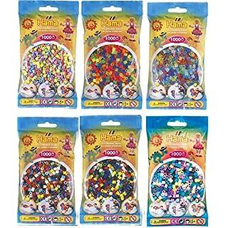 Hama Happy Price Toys Midi Bügelperlen Konvulut 6 Farben Beutel (Pastell Mix,Neon Mix,Glitter Mix......)