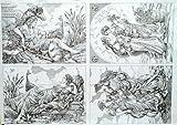Decoupage Decopatch Soft Papier Bogen vier Griechische Bilder als Motiv 48x68