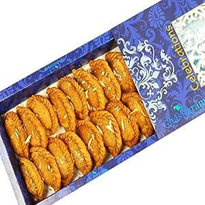 Ghasitaram's Holi Sweets Healthy Wheat Gujiya Box (800 gms)