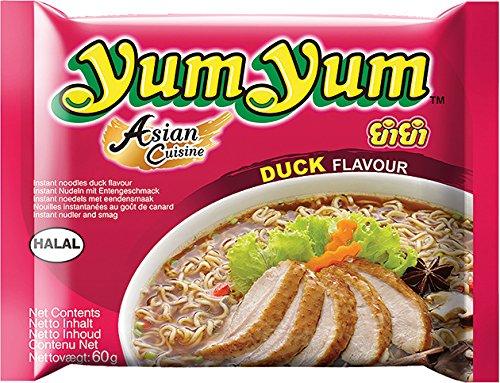 Yum Yum Pâtes instantanée, canard, Lot de 30(30x 60g)