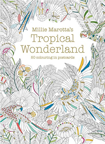 Millie Marotta's Tropical Wonderland Postcard Box: 50 beautiful cards for colouring in (Colouring Books)