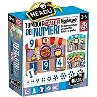 Headu- Tombola Tattile Montessori dei Numeri, IT20249
