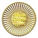 #9: Wedding Gift Basket,Packaging Basket,Golden Basket,Fruit Packing Basket,Chocolate Gifting Basket(Size :- Inch 8.75*8.75*2)