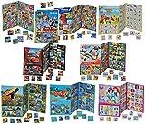 4 tlg. XXL SET: Gedächtnis Spiel - z.B. Disney Prinzessinnen Cars Dinosaurier Planes Mickey Mouse - zum Ausschneiden - für Mädchen Jungen Bastelset Memo Spiel Gedächtnisspiele Kinder / Kartenspiel Karten - Memo