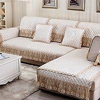 living camera divano lino cuscini/ semplice e moderna sede di quattro/Europeo antiscivolo in pelle pizzo divano telo di copertura-B 90x180cm(35x71inch)