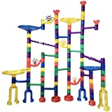 Mumoo Bear Marble Run Building Blocks Toy for Kids 122 Pieces, Multicolour