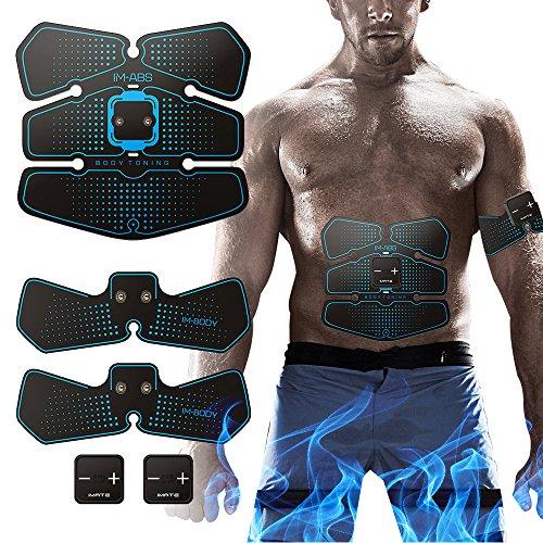Hatsubi Abs Trainer Muscle Toner, EMS Entrenamiento muscular Adelgazante ABS Estimulador Abdominal Muscle Toning AB Cinturón para Abdomen/Brazo/Entrenamiento de piernas
