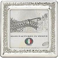QUADRATO L Cornice per Foto12x12cm Portafoto Argento Artigianale Made in Italy