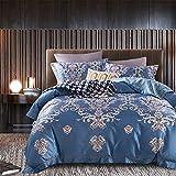 Confortevole Set di Biancheria da Letto in Cotone Tencel Confortevole Tessuto Traspirante, CH008B, 220 x 240 cm