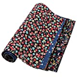 #7: Imported 10x Patterns Printed Cotton Fabric for DIY Craft Sewing Handbag Dolls Black