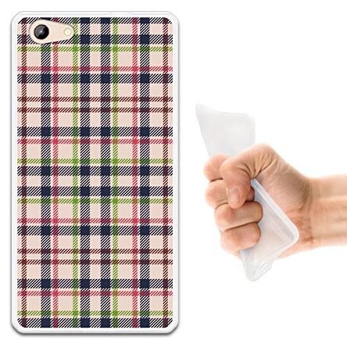 WoowCase Doogee Y300 Hülle, Handyhülle Silikon für [ Doogee Y300 ] Quadratische Druckschottenkaro & Linien Handytasche Handy Cover Case Schutzhülle Flexible TPU - Transparent