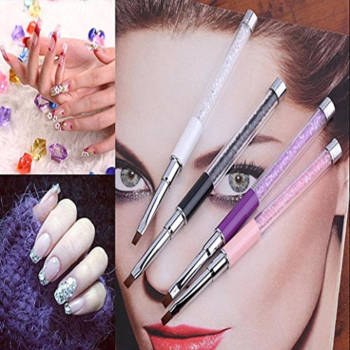 Stylo à ongles, Sansee 1Pc GEL & Acrylique Nail Art Conseils Conception Dotting Peinture Pen Polish Brush Set (Violet)