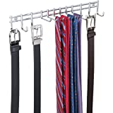mDesign Range foulard pratique – porte-ceinture pour ceintures, serviettes, sacs et accessoires – porte-cravates muni de 12 c