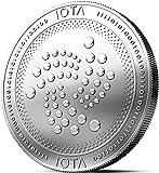 Physische IOTA Medaille mit echtem Silber überzogen. Wahres Sammlerstück mit Münzkapsel - Kollektion 2018. EIN Muss für jeden Krypto-Fan + GRATIS E-Book gegen Cyber-Attacken