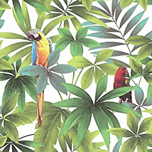 Muriva Ltd J92914 Rolls Kaleidoscope Parrots Wallpaper
