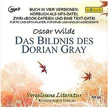 Das Bildnis des Dorian Gray Audio-CD -MP3 Datei, eBook als ePub und für Kindle - Audiobook, MP3 Audio, MP3-Ausgabe, Hörbuch, Gelesene Literatur Klassische Literatur