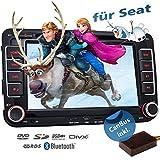 2DIN Autoradio CREATONE VW7000 für Seat inkl. Can-BUS mit GPS Navigation (Europa-Karten - 47 Länder) | Freisprecheinrichtung | Bluetooth | 7 Zoll Touchscreen | Win CE | DVD-Player | USB/SD-Funktion