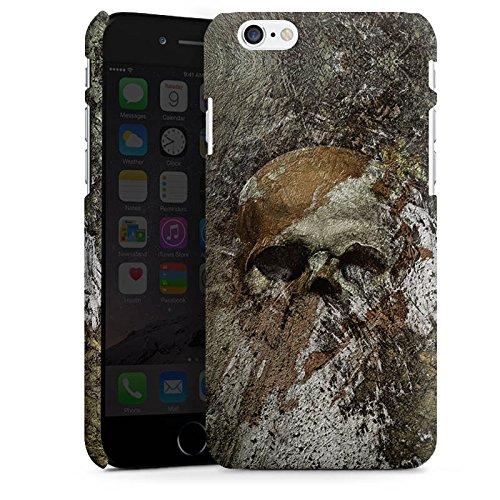 Apple iPhone X Silikon Hülle Case Schutzhülle Skull Totenkopf Bones Premium Case matt