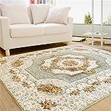 LQCHUAJIA Carpet European Minimalist Modern Bedroom Full Floor Carpet Living Room Sofa Bedroom Large Rug Shaggy Rug ( Color : Green , Size : 120*180cm )