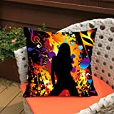 #10: Aart Dancing Girl pop art printed Cushion Cover 16x16 by Aart Store