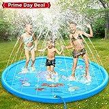 Dookey Splash Pad, Sprinkler Play Matte, Sommer Garten Wasserspielzeug Kinder Baby Pool Pad Spritzen für Outdoor Familie Aktivitäten/Party/Strand/Garten