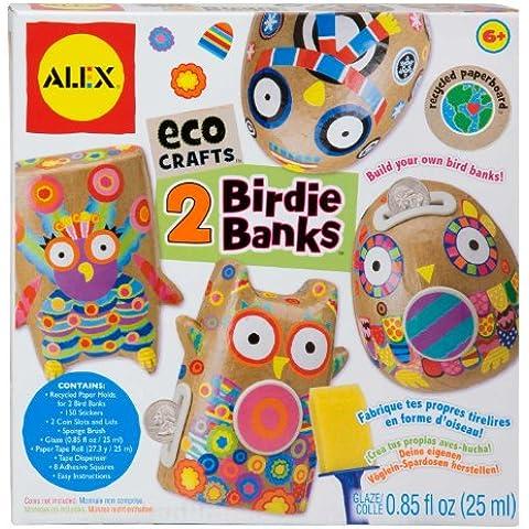 ALEX Toys Giochi creativi Costruisci 2 salvadanai con materiali (Alex Rotolo Di Carta)