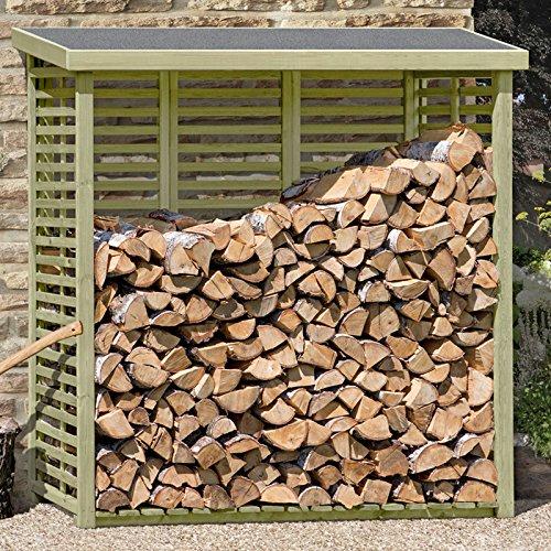*Kaminholzregal mit Rückwand für ca. 2 m³ Holz von Gartenpirat®*