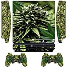 PS3 Skins Jeux PS3 Stickers Console Sony PS3 Vinly Decals for Playstation 3 Slim Système - Skunk Bud