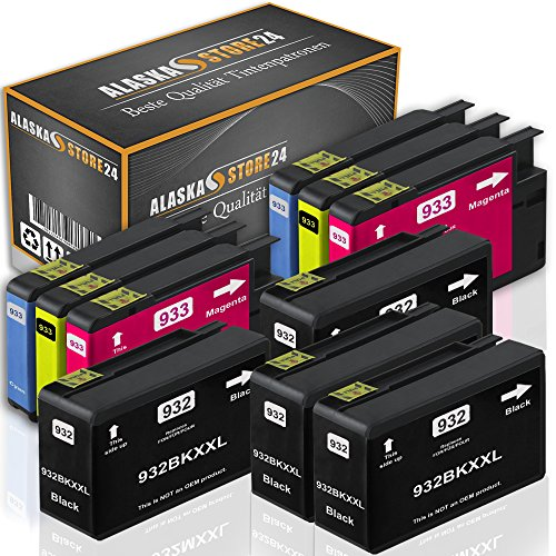 10x Compatibile Cartucce HP 932XL 933XL con HP Officejet 6600 6700 7612 7110