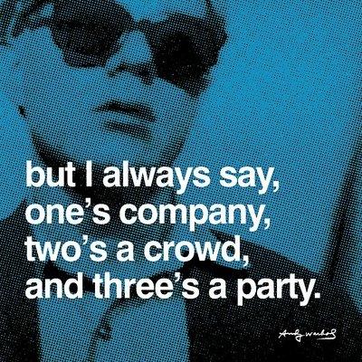 Andy Warhol Revolution (Kunstdruck 'Hier steigt eine Party', von Andy Warhol, Größe: 30 x 30 cm)