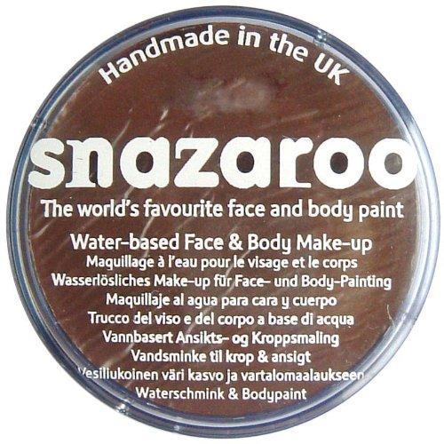 Snazaroo 1175999 Kinderschminke, hautfreundliche hypoallergene Gesichtschminke auf Wasserbasis, wasservermalbar, parabenfrei, braun, 75 ml Topf