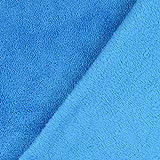 Fabulous Fabrics Wellnessfleece Sophie – türkis — Meterware ab 0,5m — zum Nähen von Kissen und Tagesdecken, Decken und Bademänteln